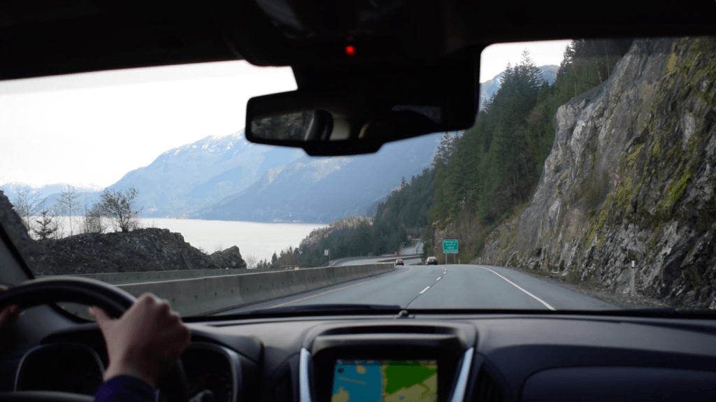 Driving on the Sea to Sky Highway