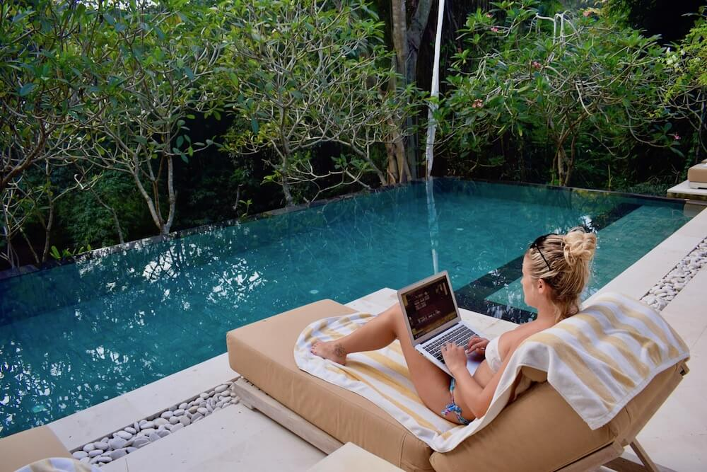 My favourite part of travel blogging, you can do it from anywhere!