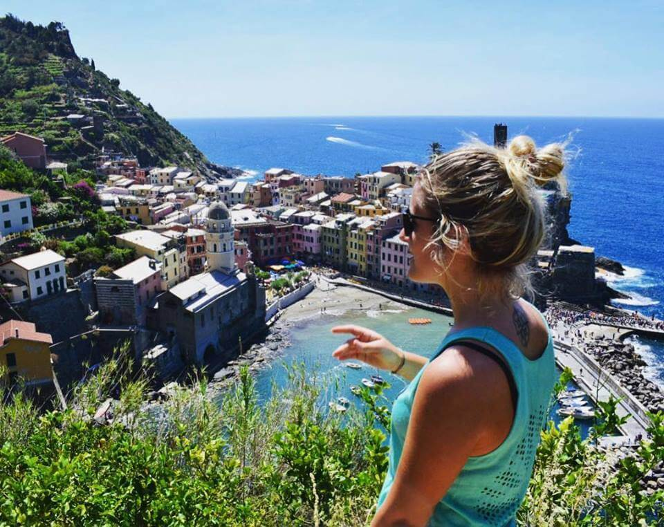 View over Vernazza in Cinque Terre, Italy