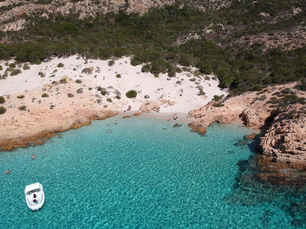 The beautiful water of Cala Soraja, Spargi