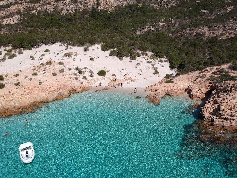 The beautiful water of Cala Soraja, Spargi
