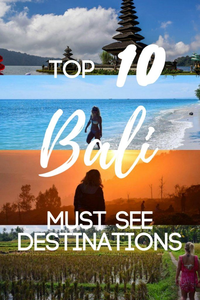 Planning a trip to Bali? Looking for the best things to do and must see spots on the island? Here is a list of the top 10 places you can't miss!