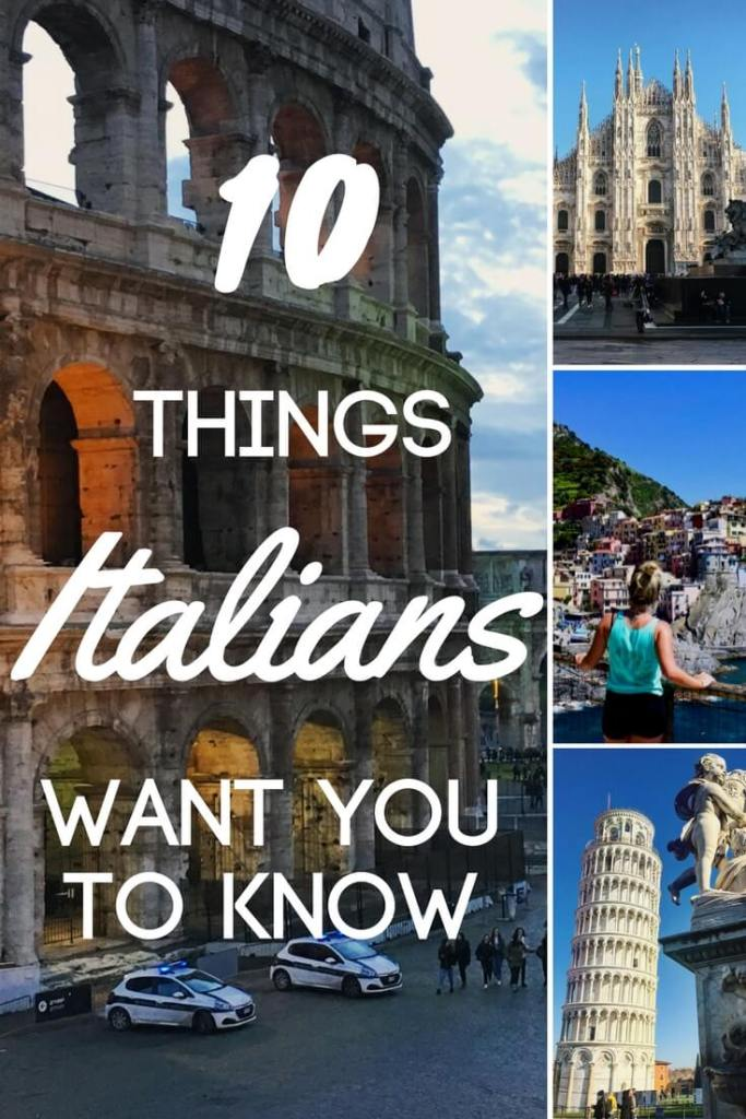 Are you planning a trip to Italy this summer? Do you want to blend in with the local Italians? The you should check out this list of top ten things that Italians want you to know before you visit!