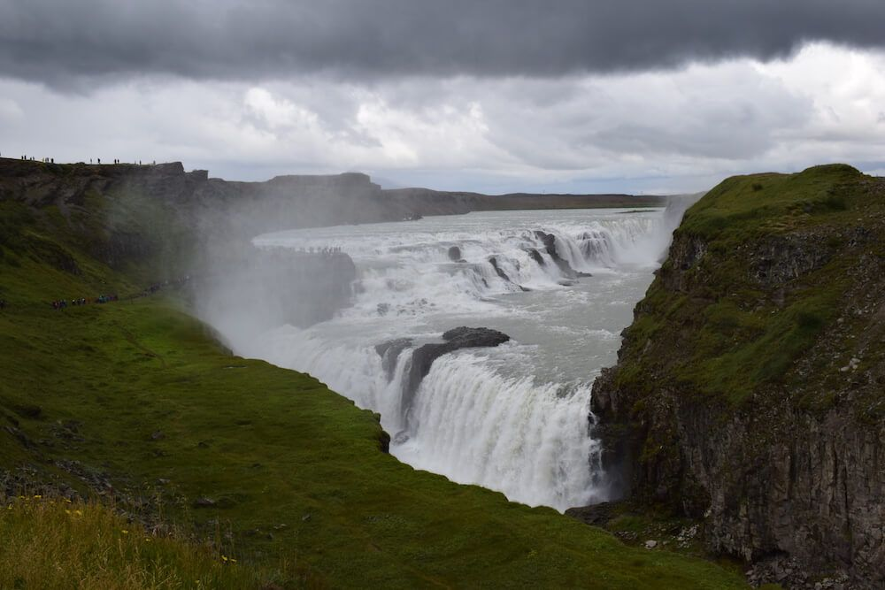 The three layers of the Gullfoss waterfall