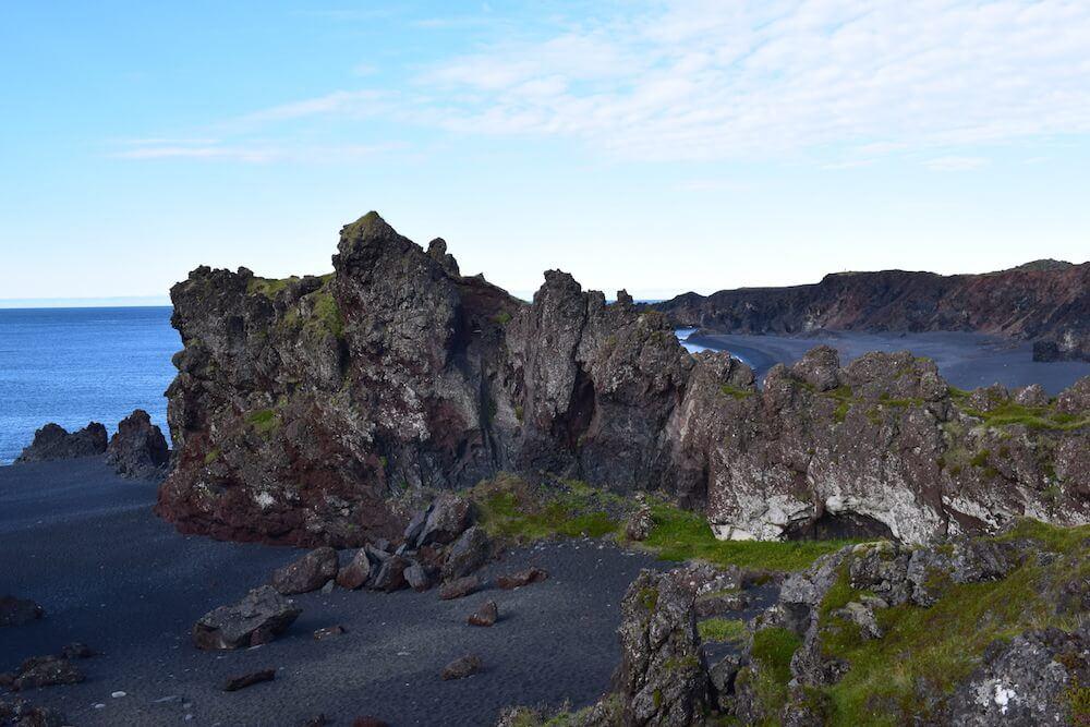 A black lava beach in Snæfellsnes