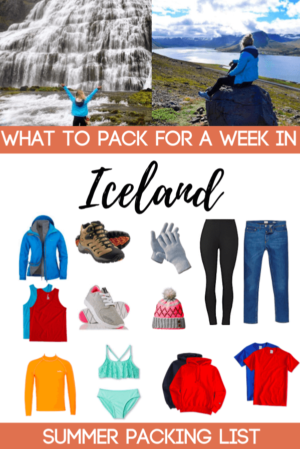 Planning a trip to Iceland but not sure what you should pack? Check out this packing list for tips and ideas on what to pack for a summer week trip to Iceland!