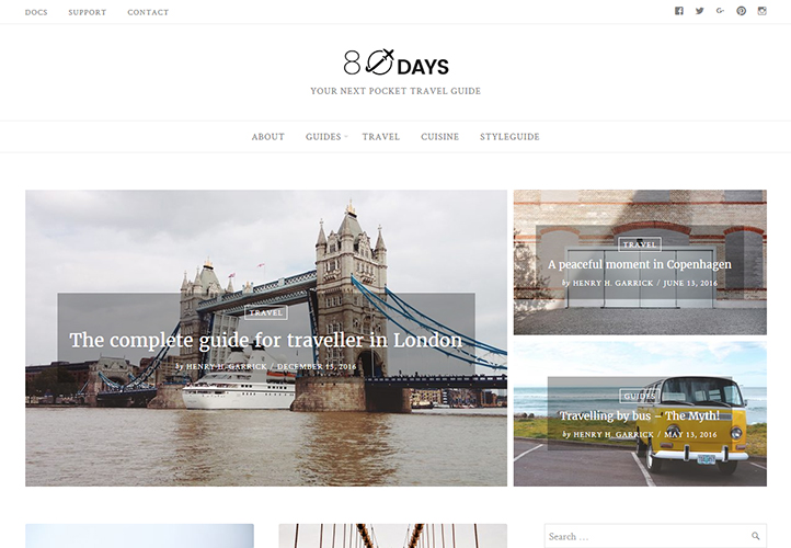 eightydays wordpress blog theme