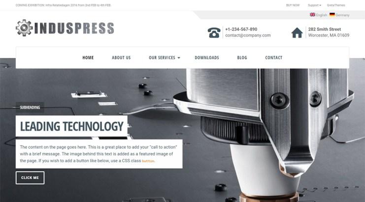 induspress wordpress business theme
