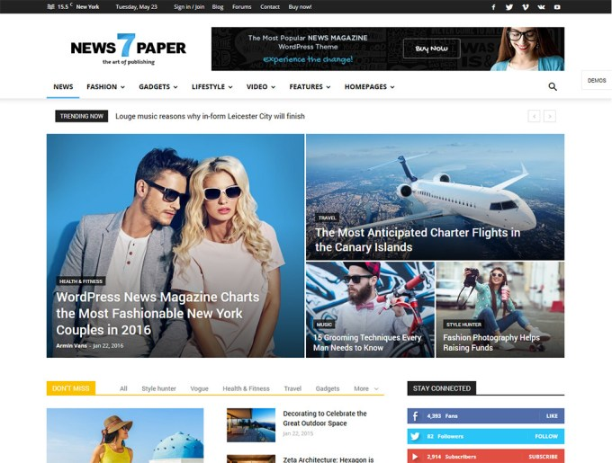 20+ Best WordPress Magazine Themes 2019 - GretaThemes