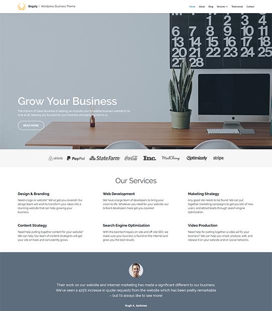 bogaty wordpress business theme