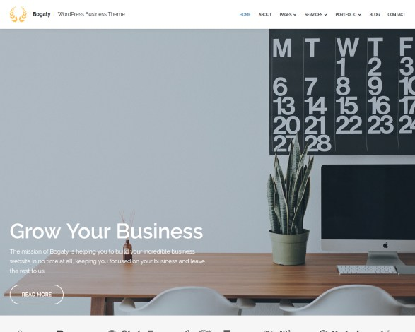 Bogaty Business WordPress Theme