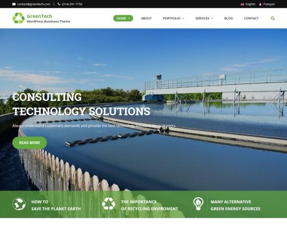 GreenTech Business WordPress Theme
