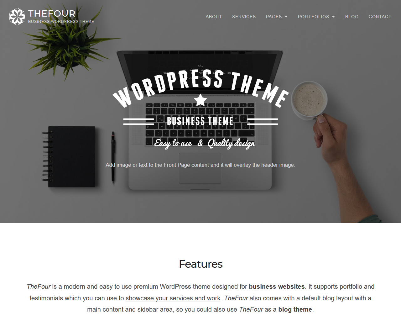 TheFour Business WordPress Theme