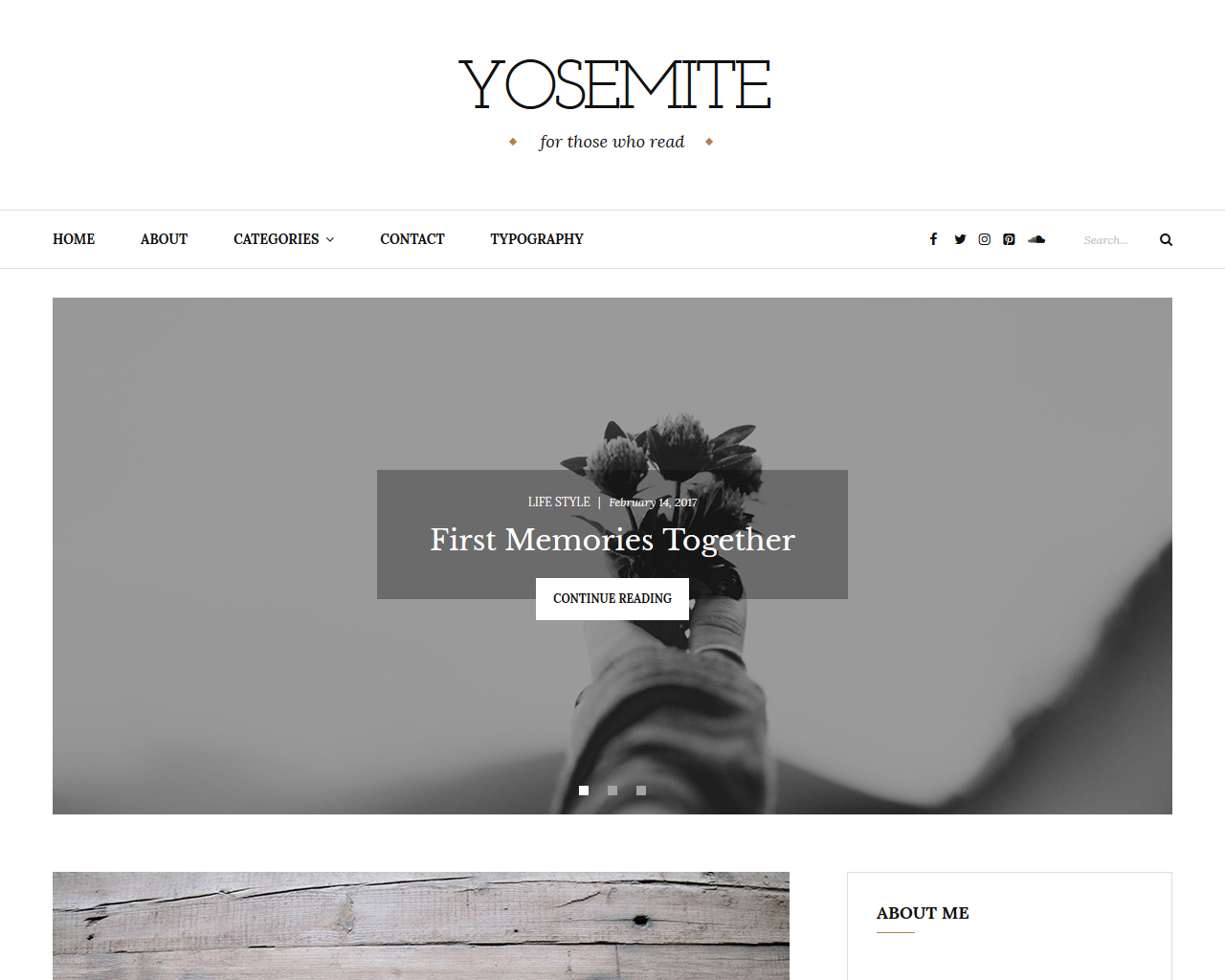 Yosemite Blog WordPress Theme