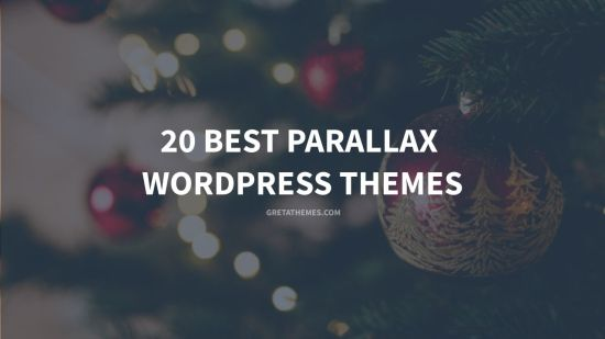 20 best parallax wordpress themes