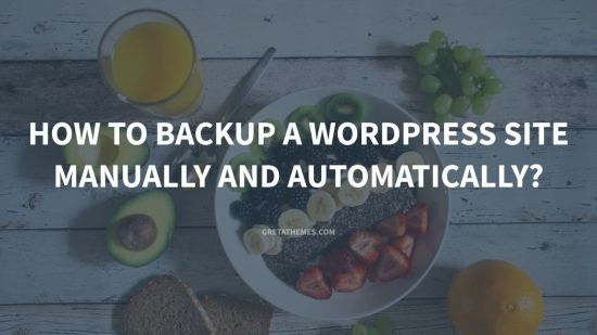 how to backup a wordpress site munally and automatically