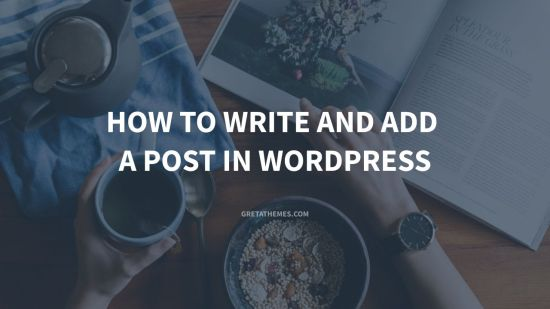 How to write and add a post in WordPress