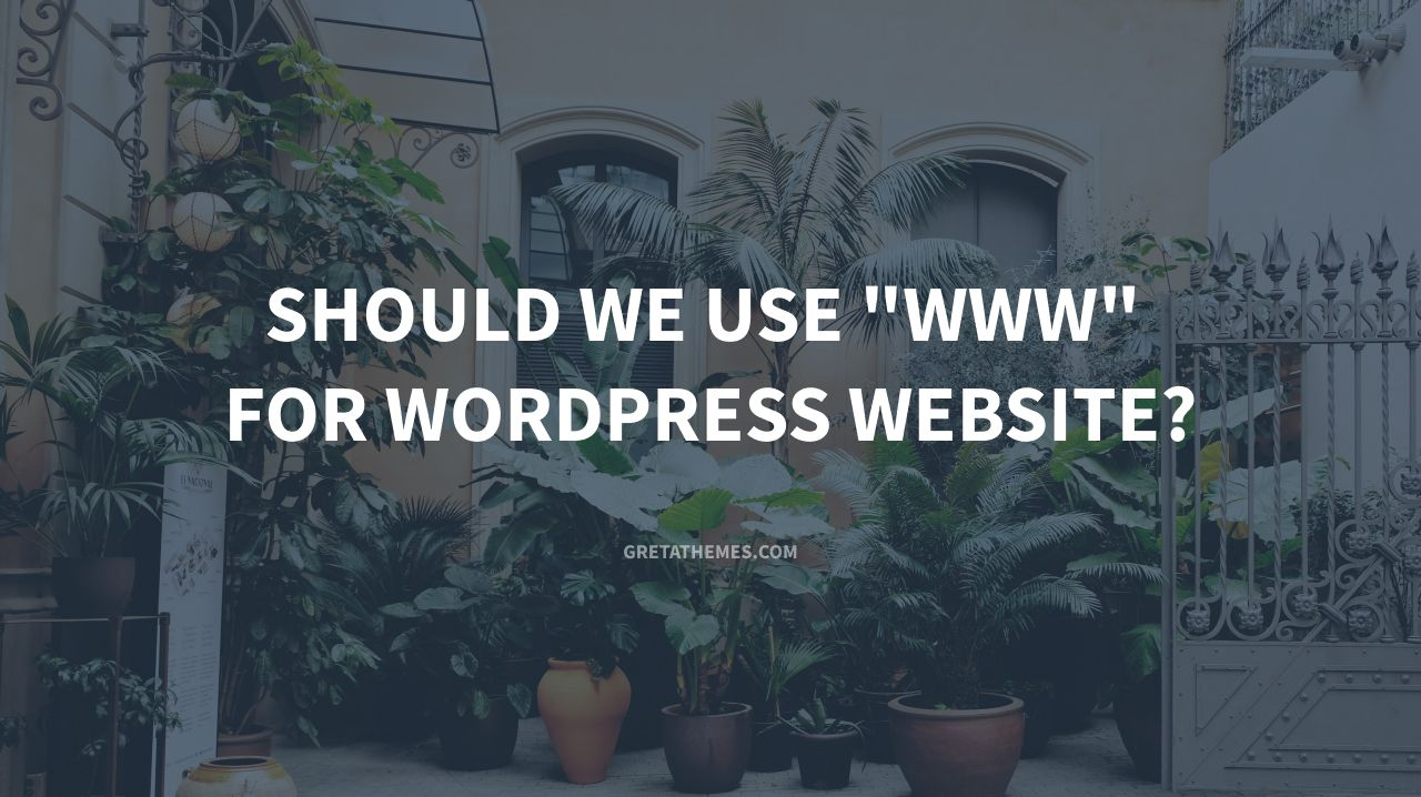 Should We Use www For WordPress Website