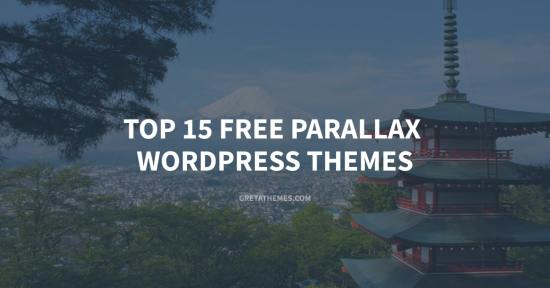 Top 15 free parallax WordPress themes.