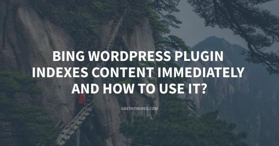 Bing WordPress Plugin Indexes Content Immediately and How to use it?