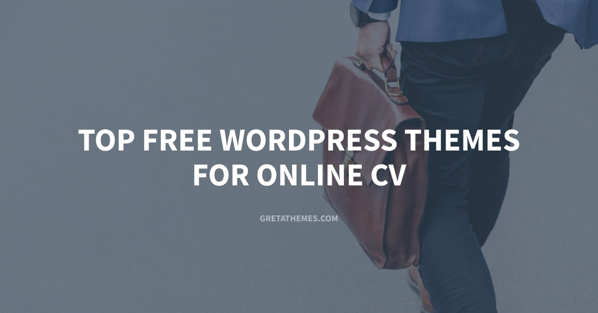 Top Free Online CV WordPress Themes