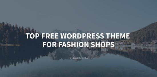 Top 11+ free WordPress theme for fashion shops