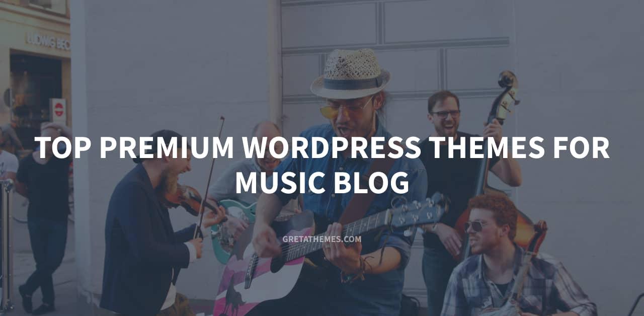Top 9 premium WordPress themes for music blog