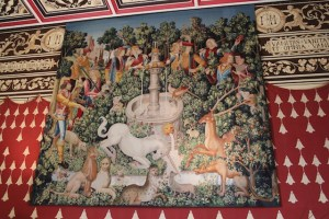 Picture of Tapestry of unicorn hunt