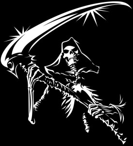 picture of Death as a skeleton with a scythe