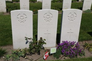 The crew of a Canadian glider, buried together