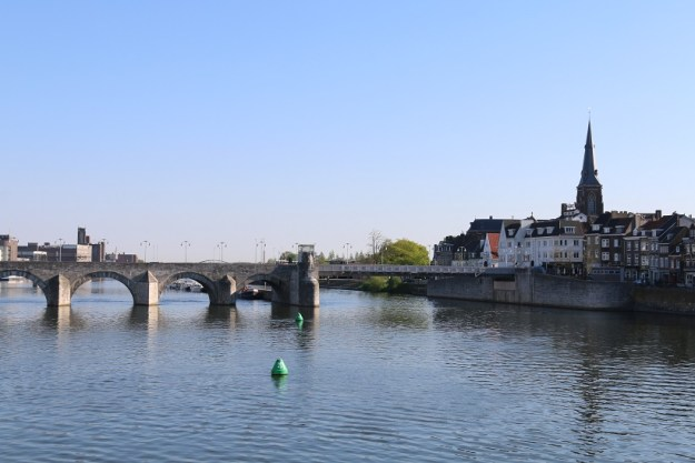 The old bridge connecting the two sides of Maastricht