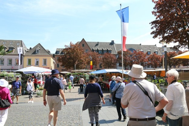 The market place in the town square