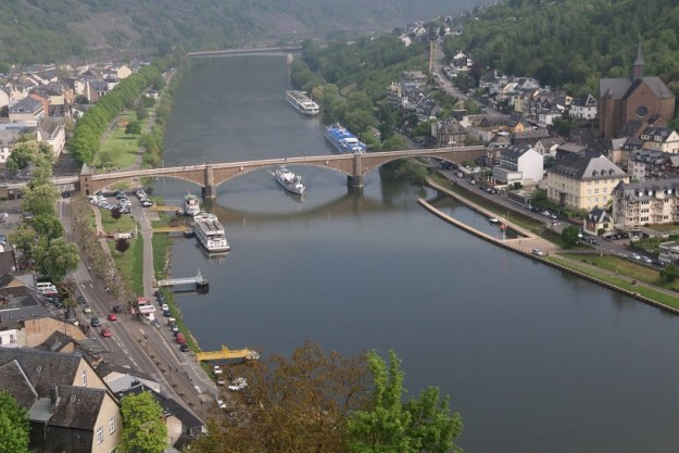 Cochem and the Moselle from the castle