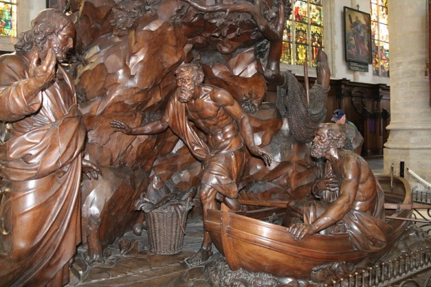Jesus and the fishermen, St Jacob's church