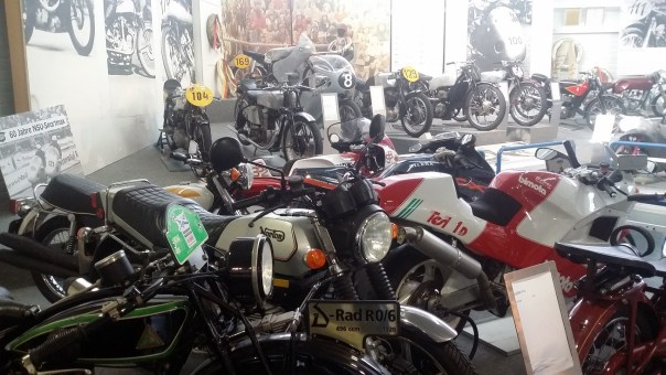 Just a few of the bikes in the museum