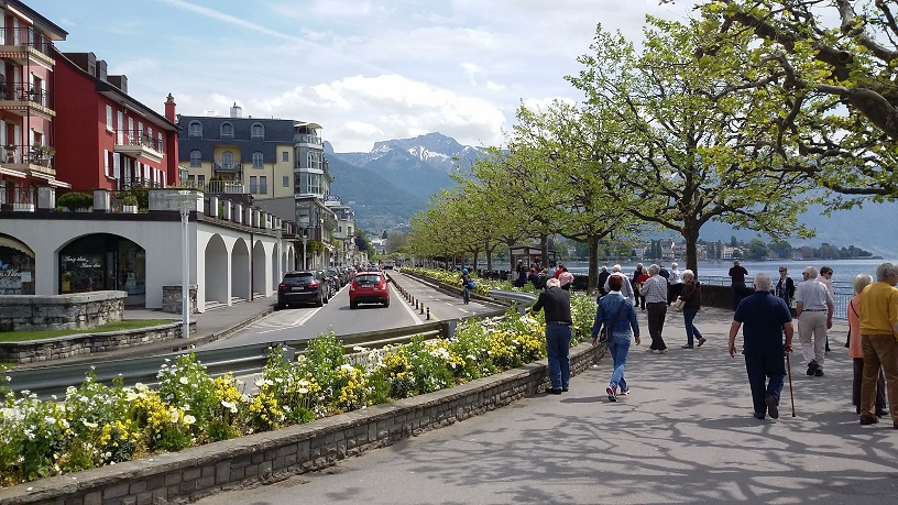 The promenade at Vevey