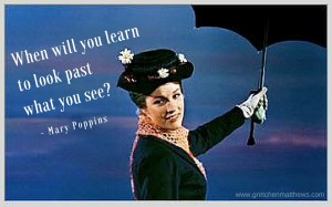 When will you learn to look past what you see-