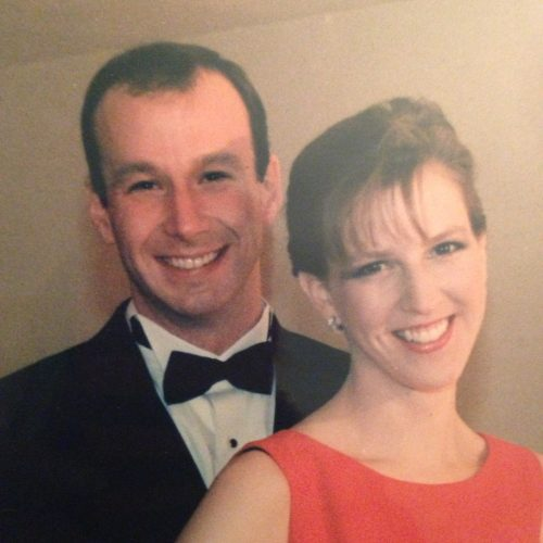 My husband and me on our third date - one week into our relationship. We were headed to an inaugural ball for President Clinton's second inauguration. I thought he looked quite spiffy.
