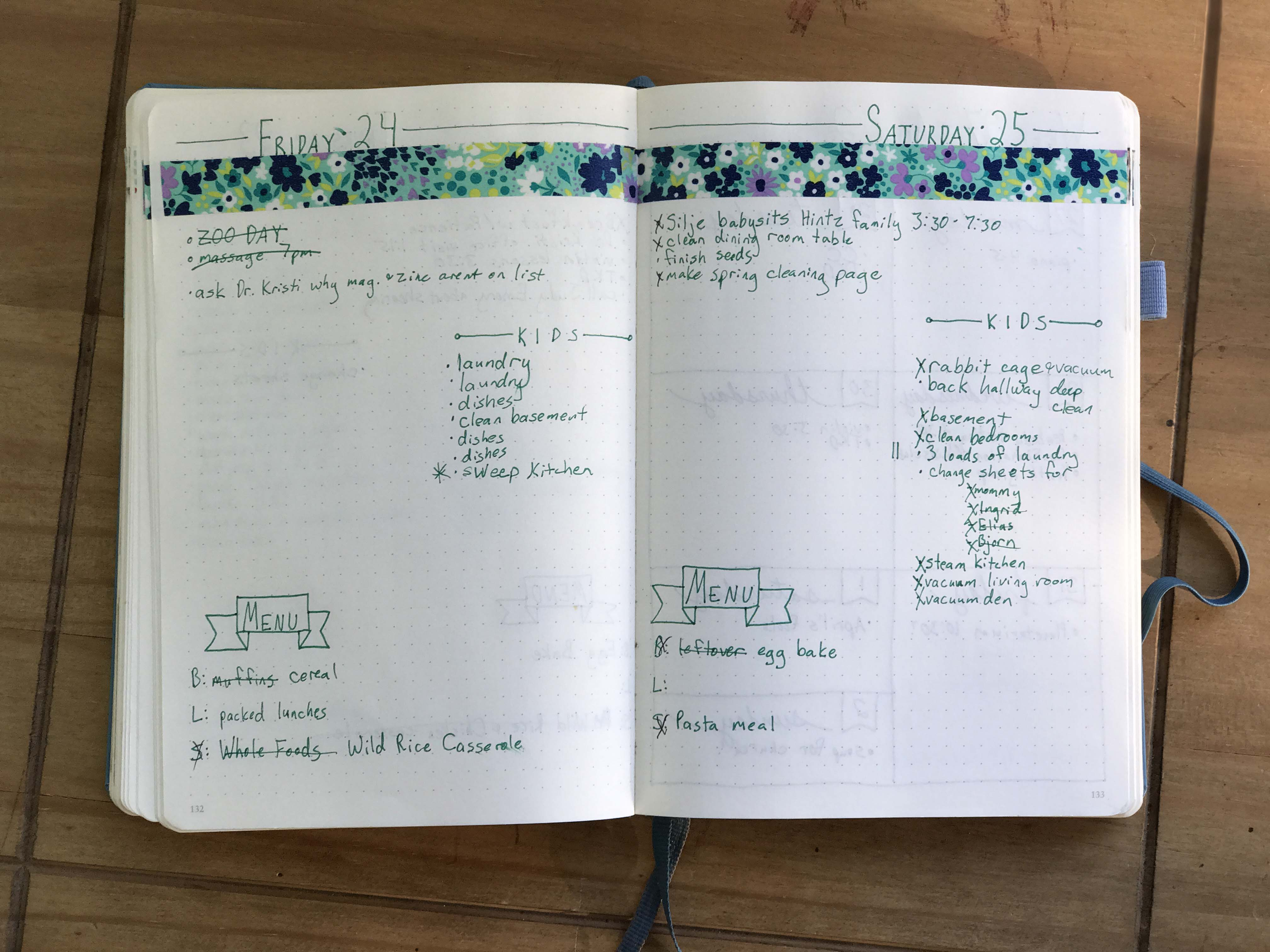 How to use a bullet journal for your homeschool this is a basic daily page from my 2nd bullet journal i added a kid chore list as each of my school aged kids do a family chore after every meal solutioingenieria Gallery