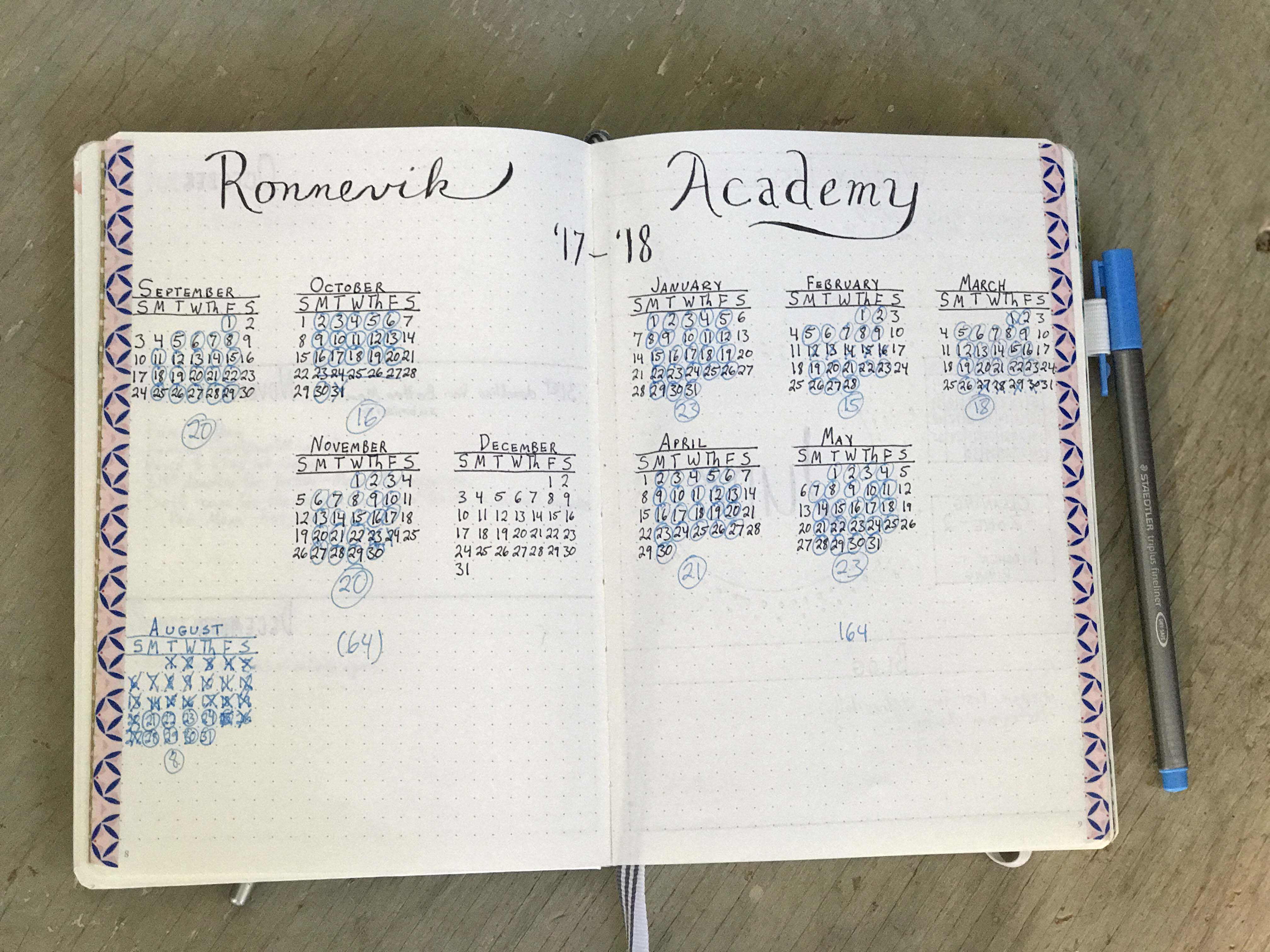 How to use a bullet journal for your homeschool another collection day is a yearly calendar so i can keep track of days that we work hard and plan in vacations like i said our state does not require solutioingenieria Gallery