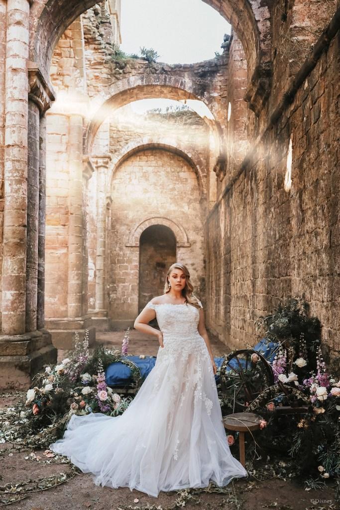 Aurora inspired disney bridal gowns