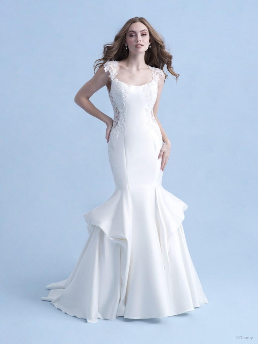 elegant ariel disney wedding gowns