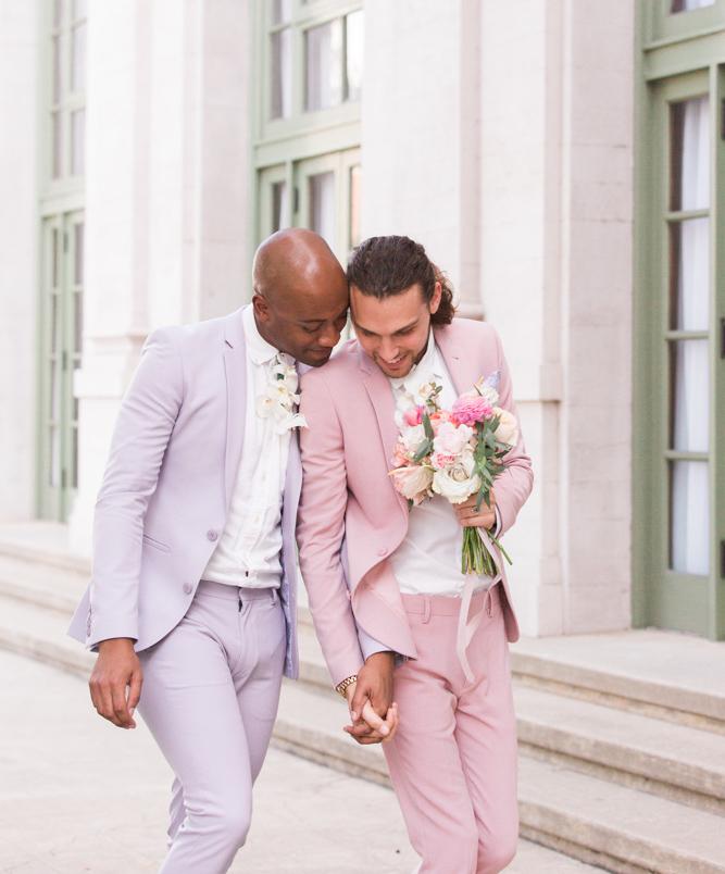 pastel wedding tuxedo