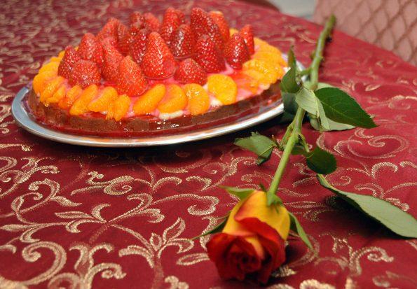 Die passende Rose zur Torte