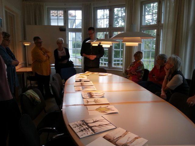 Akvarel underviser Uffe Boesen evalurer Dag 1