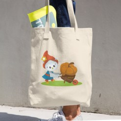Grewwit and the Giant Pumpkin Cotton Tote Bag