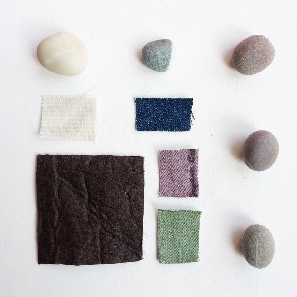 Pinatex and organic cotton nature inspired mood board