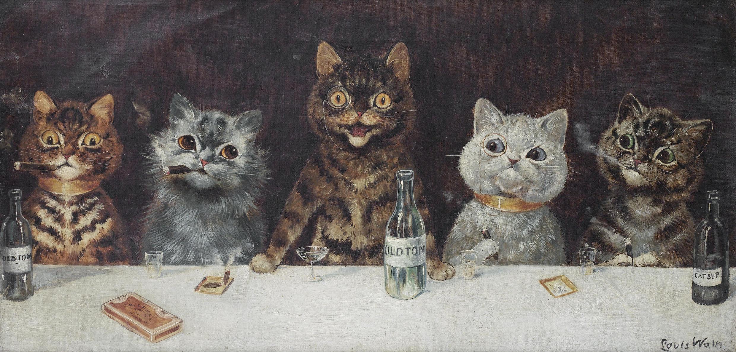 ed3e054e137 The Man Who Made Cats Laugh  Louis Wain - greydogtales