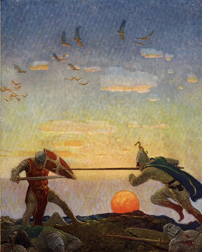 king arthur the writers of the round table  n c wyeth 1922