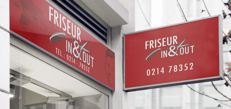 neue Reklame Friseur IN&OUT